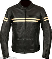 WEISE BRUNEL CLASSIC VINTAGE STYLE ARMOURED LEATHER JACKET