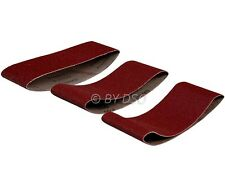 Trade Quality Pack of 3 60 X 400MM 60 Grit 80 Grit and 100 Grit Sanding Belts