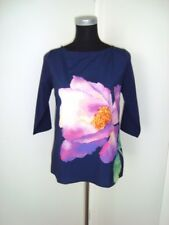 ZARA Style Navy Blue With One Floral Pink Print Blouse Top-Size S/NWT