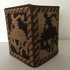 Handmade Plastic Canvas Tissue Box Cover RODEO Horse Cowboy Topper Boutique NEW