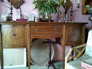 Antique Mahogany Sideboard, Late Georgian With Original Brass Handles.