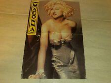 Rare Vintage 80's POSTER:Madonna(Marilyn Monroe sexy shot)+Billy Idol