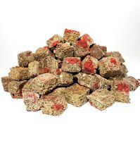 Beef Heart Enhanced Freeze Dried California Blackworms - Small Cubes