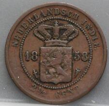 Nederlands Indie Netherlands Indies - 2 1/2 cent 1858