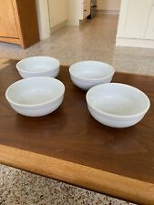 Set of 4 Williams-Sonoma Everyday white 5.5 inch 16 OZ All Purpose Cereal Bowls