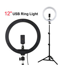 12 INCH LED Ring Light Dimmable Lighting with Stand/Phone Clip For Photography