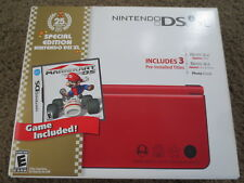NEW Nintendo DSi XL 25th Anniversary Edition with Mario Kart Red Handheld System