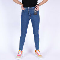 Levi's Mile High Super Skinny Zip Cuff Ankle In Your Dreams Blau Damen Jeans W27