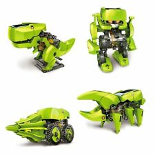 T4 transformar accionado por energía solar Robot 4 En 1 Educativo Movimiento Juguete T-rex