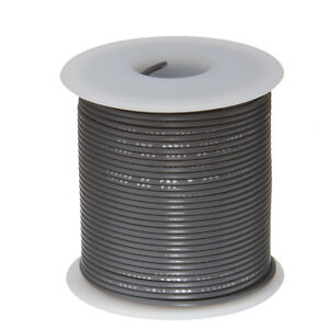 """18 AWG Gauge Stranded Hook Up Wire Gray 25 ft 0.0403"""" UL1007 300 Volts"""