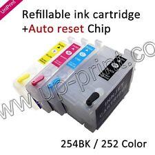 For WorkForce WF-7610 7620 7110 Ink 254 / 252-I BK XXL refillable ink cartridges
