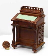 Dollhouse Miniature Lectern w/ Working Desk Top in Wood