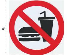 No Food Vinyl Sticker Decal Warning Safety Sign Store Office Building Home #1
