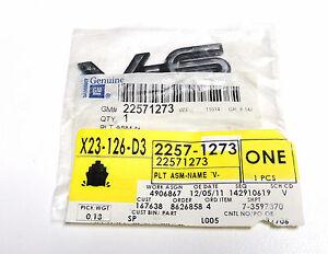 NAMEPLATE V6 Genuine GM 22571273 92-98 Grand Am SE, 2000-2001 Saturn
