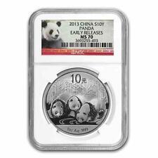 Nuevo 2013 Plata China Panda 1oz primeras versiones losa de NGC MS70 calificado moneda
