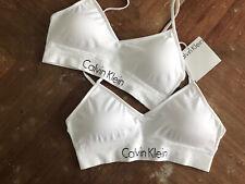 Calvin Klein Bra Set White Size S