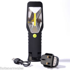 COB LED Cordless Work Light Torch Inspection Lamp Li-Ion Rechargeable Battery