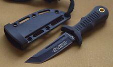UC3120 Couteau United Cutlery Sub Commander Black Mini Tanto Acier AUS-6 Manche
