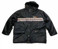Stan Herman Fedex Sz 2XL Black Reflective Coat Jacket Hoodie XXL Puffer Parka