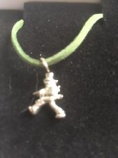 "Window Cleaner TG320A Made In Fine English Pewter On 18"" Green Cord Necklace"