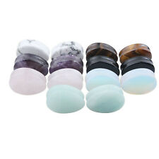 Amethyst Obsidian Stone Ear Expander Stretcher Kit Tunnel Plug Earring Jewelry