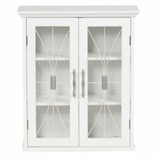 Elegant Home Delaney Wall Cabinet with 2 Doors, White