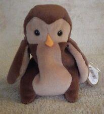 Ty Beanie Babies Hoot Owl Plush Bean Bag Stuffed Animal Nwt