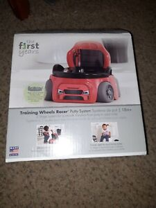 The First Years Training Wheels Racer Racecar Potty Seat system removeable pot