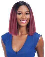 JUSTY - FREETRESS EQUAL SYNTHETIC INVISIBLE PART FULL WIG BLUNT CUT