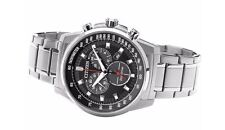 Citizen Eco Drive Solar Mens Plata Reloj Nuevo H500-S107776 at2370-55e