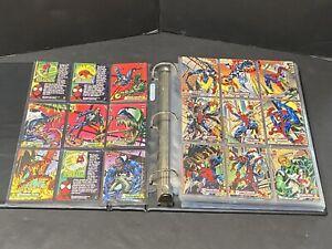 Marvel 1994 Spiderman (124 cards) With Binder