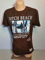 DITCH PLAINS  Herren  Shirt  T-Shirt  Gr. L  braun  BEACH  Kurzarm  NEU
