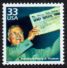 UNITED STATES, SCOTT # 3186-D, PRESIDENT HARRY S. TRUMAN, WORLD WAR II, COLD WAR