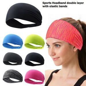 Headbands Men Women Sweatband Head Band Hair Gym Yoga Stretch Sport Sweat Band