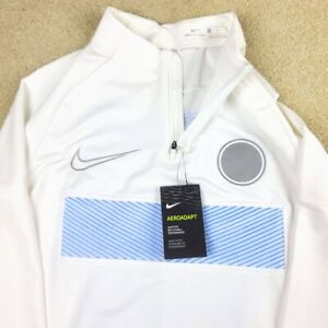 Nike AeroAdapt Strike Series Pullover Top Men's M Soccer Drill AT5820-100 White