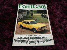 Ford Cars Range Brochure Nov/Dec 1977 - UK Issue - inc Escort RS Mexico & RS2000