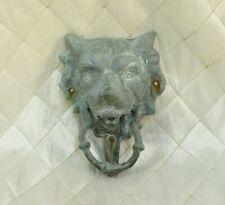 Wolf Iron Door Knocker Lion Heavy Vintage Front Door Pull Grey Rustic