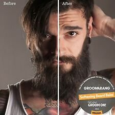 Groomarang Softening Beard Balm Relieves Itches 100% Organic & Natural Skin Care