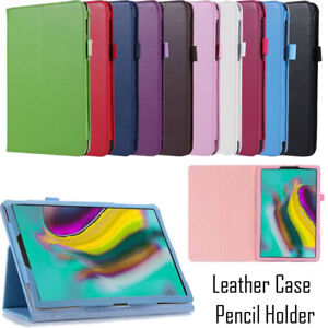 For Samsung Galaxy Tab A S5e S6 10.4 10.5 Case Flip Leather Cover w/ Pen Holder