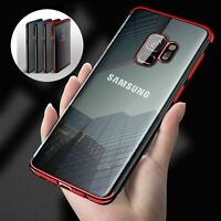 Luxury Slim Shockproof Silicone Clear Case Cover For Samsung Galaxy S7 S8 S9 A6+