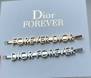 DIOR HAIR CLIP SET OF 2 PCS SILVER GOLD DIOR FOREVER VIP GIFT