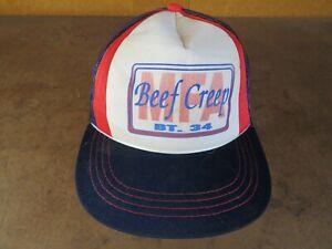 Vintage MFA Ag Beef Creep BT-34 Mesh USA Trucker Hat Old No Patch cap K-Brand