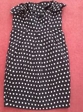 Marks and Spencer Autograph Black & White Polka Dot Dress/Detachable Straps - 12