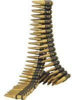 ARMY MILITARY BULLET BELT 96 PLASTIC BULLETS 158cm LONG FANCY DRESS ACCESSORY