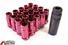 VARRSTOEN VT48 12X1.25MM EXTENDED OPEN LUG NUTS (RED COLOR) FITS G35 G37 300ZX