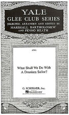 What Shall We Do With A Drunken Sailor Vocal Choral Voice Learn Play Music Book