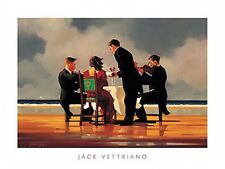 ELEGY FOR A DEAD ADMIRAL ART PRINT BY Jack Vettriano dining beach ocean poster
