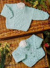 """Cable & nope bébé / prématuré reborn / / Cardigan Sweater 12 """" - 20"""" 3ply à tricoter"""