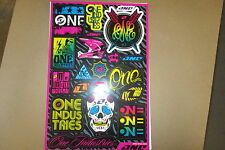 ONE INDUSTRIES GIRL UNIVERSAL GRAPHICS STICKERS 12X18 SHEET  DECALS