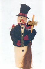 """# 1970 37"""" Snowman doll pattern by Bonnie B Buttons Winter or fall decorations"""